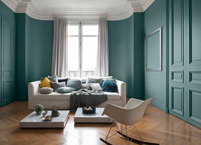 Quelle peinture pour repeindre un salon nos conseils - Repeindre une chambre en 2 couleurs ...