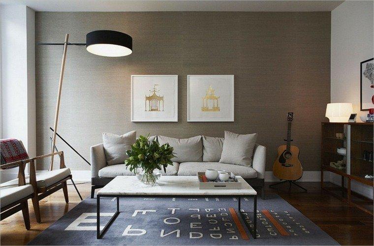 ... Salon Et Mur Vinyle Couleur Taupe Clair ...