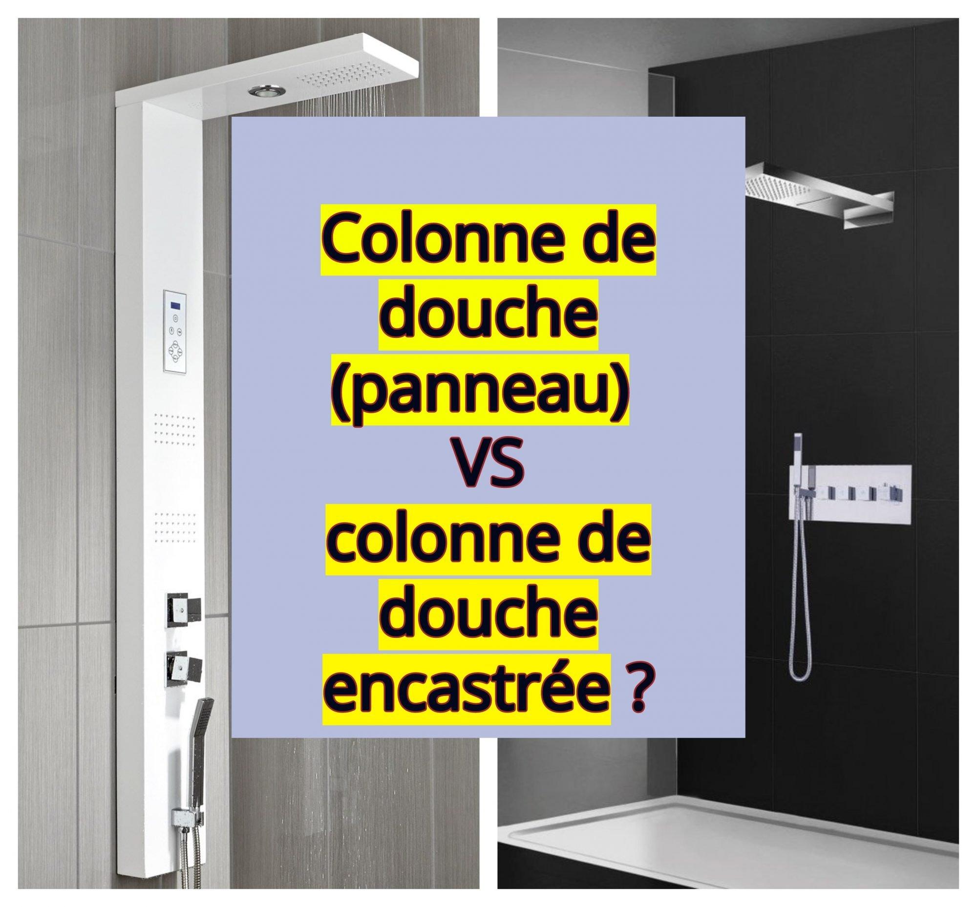 Colonne de douche panneau ou colonne de douche encastr e - Colonne de douche exterieur ...