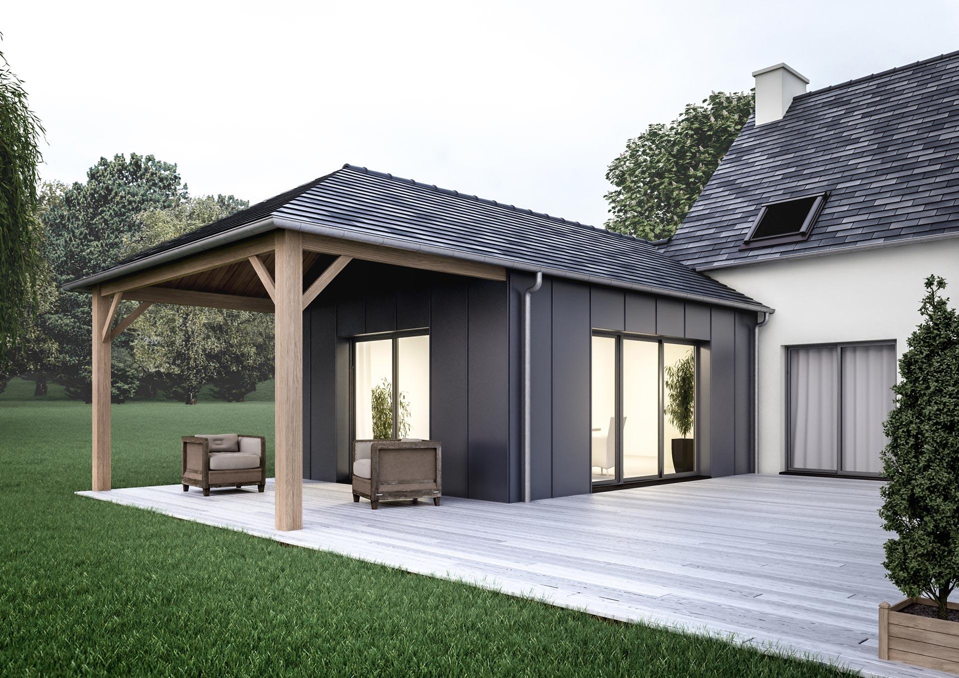 Agrandir sa maison comment choisir entre la v randa et l 39 extension de maison - Veranda extension maison ...